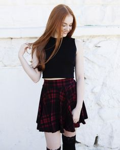 Ashleigh's Red Plaid Skirt