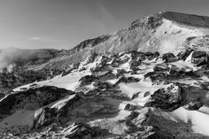 Burroughs Mountain, Mount Rainier National Park, Washington, 2007 | Click the picture above for information on purchasing a fine art photography wall print. | #blackandwhite #landscape #mountains