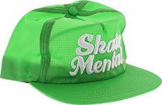 Skate Mental Script Adjustable Green Hat: Brand: Skate Mental adjustable Hat Size: One Size Fits All New Skate, Skateboard Shop, Green Hats, Hats Online, Skateboards, Hat Sizes, All The Colors, Baseball Hats, Script