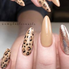 Beautiful nails by Ugly Duckling Master Educator Ugly Duckling Nails page is dedicated to promoting quality, inspirational nails created by International Nail Artists Sparkle Nails, Glam Nails, Beauty Nails, Cute Nail Art, Cute Nails, Pretty Nails, Fake Gel Nails, Leopard Print Nails, Nailart