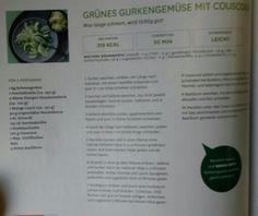 Grünes Gurkengemüse mit Couscous