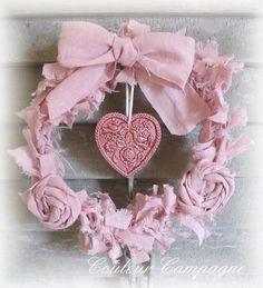 shabby pink heart