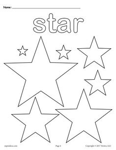 coloring pages of stars shape.html
