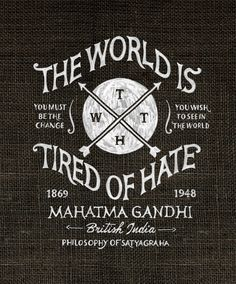 TWTH by BMD Design by BMD Design , via Behance   the world is tired of hate