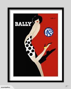 Bally 'Globe' Vintage Poster | Trade Me