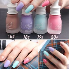 Matte nail polish, which is an indispensable nail polish of recent years, makes every woman's hand look tremendous. Matte nail polish wonders even when applied alone. Bright Nail Polish, Matte Nail Polish, Bright Nails, Acrylic Nails, Bad Nails, Polish Models, Ali Express, Nail Decorations, Nail Art Diy