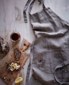 """{Apron Recipes KINFOLK~ cardamon ricotta with pistachios& honey} """"the messes that prove our time has been well spent. a filthy apron is the lingering memento of those who properly express themselves in the kitchen. take note, reminisce, then lauder."""""""