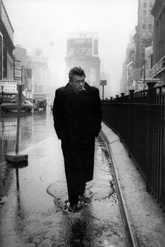 James Dean, Times Square, by Dennis Stock, 1955