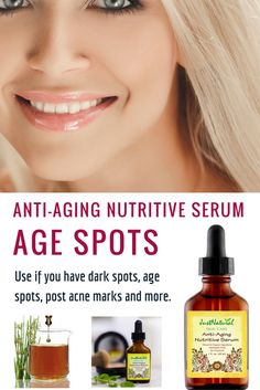 Anti-Aging Nutritive Serum / Helps reduce and erase the appearance of age and sun spots with this fading and lightening dark spot corrector. Every drop of this serum has powerful vital nutritive nutrients to help lift and firm your skin from the inside, correcting wrinkles and increasing firmness as this weightless serum is instantly absorbed.