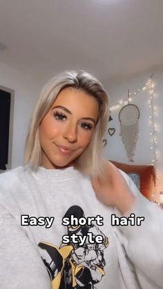Hair Up Styles, Short Hair Styles Easy, Style Short Hair, Short Hair Hacks, Summer Hairstyles, Easy Hairstyles, Short Hairstyle, Hairstyle Ideas, Hair Ideas