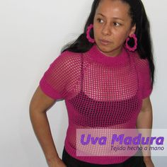 Blusa tejida a Ganchillo Mira el tutorial en Uva Madura Crochet #Crochet #Ganchillo #Crocheteveryday #crochê #croché #Croche #Crocheted #Crochetaddict #Crocheting #Crochelove #Ganchillocreativo #Crochet_relax #Crochetastherapy #crocheter #Ganchilleando #Clevercrafters #Crochelovers #Crochetyarn #Ilovecrocheting #Crochetgoodness #Crochetando #Tejido #Handknit #Tejidoamano #Knit #videoscrochet #TutorialesCrochet #TutorialesGanchillo #UvaMaduraCrochet #Craftastherapy #Craftsposure Crochet Art, Love Crochet, Crochet Designs, Hand Knitting, Ted, Handmade, Women, Fashion, Hand Made