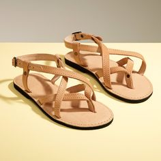 Ultra comfortable sandals made of high quaity natural leather. Hand stitched with an adjustable strap and cusioned sole, They're perfect for hot summer weather.