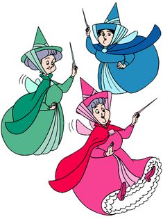 One of my first memories! Flora and Fauna and Merryweather - love - had paper dolls of these wonderful fairies
