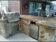 flagstone with tile countertop