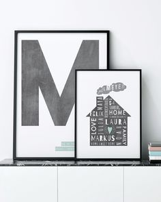 Personalize your Home Sweet Home & Letter Poster online and see your changes immediately!