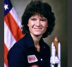 Sally Ride 1st woman to go in space in 80s