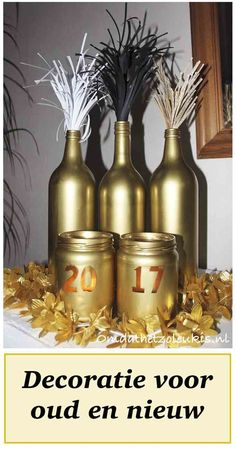Decoratie voor oud en nieuw. Oudjaarsavond Silvester Party, 50th Birthday, New Years Eve, Party Time, Holiday, Christmas, Birthdays, December, Diy Crafts