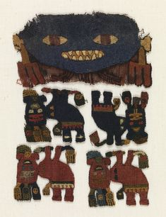 Fragment, 300–100 BC Medium: wool Technique: embroidered in stem stitch on plain weave foundation. Bequest of Marian Hague. 1971-50-5.