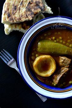 sauce tunisienne petit pois artichauts 2