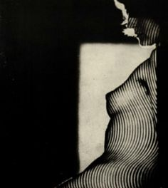 Jaroslav Vávra, Striped Nude, 1966