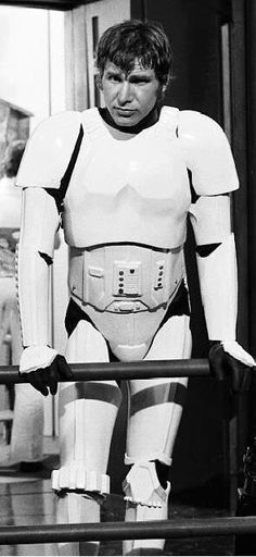 Harrison Ford on the set of Star Wars A New Hope