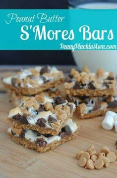 Peanut butter smore bars