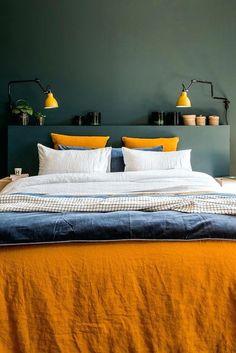 Où trouver le plus beau linge de lit en lin ? Chez Harmony Textile Where can I find the most beautiful linen bed linen? At Harmony Textile Bedroom Orange, Gray Bedroom, Trendy Bedroom, Bedroom Inspo, Home Bedroom, Modern Bedroom, Bedroom Decor, Bedrooms, Bedroom Ideas