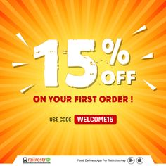 Get 15% OFF on your First Order! Use code: 𝐖𝐄𝐋𝐂𝐎𝐌𝐄𝟏𝟓 #railrestro #orderfoodintrain #ecatering #railrestroapp #foodorderingapp #foodcoupon #discountonfood #firstorder 📲 Download RailRestro App to Order Food in Train Food Coupons, Delivery App, Train Journey, Order Food, First Order, Google Play, Coding, Programming