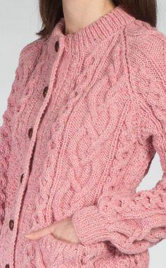 Cardigans For Women, Coats For Women, Free Aran Knitting Patterns, Winter Sweater Outfits, Winter Sweaters, Women's Sweaters, Knit Cardigan Pattern, Knitted Coat, Raglan