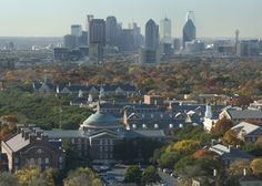 Southern Methodist University and Highland Park United Methodist Church with Dallas in the background.