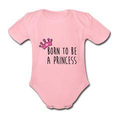 Body rose Bébé PRINCESS Pink Coton BIO Cadeau enfant personnalisé Cadeau bébé personnalisable Body Rose, Coton Bio, Funny Design, Kids Fashion, Pink, T Shirt, Clothes, Bebe, Light Rose
