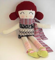 cute girl softie doll