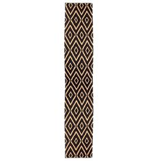 Hand-Woven Rug 2'8x8'1 Blk & Tan, $129, now featured on Fab.