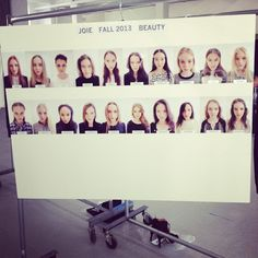 The beauty board.     Follow us on Instagram @Joie_Clothing to get a behind-the-scenes look at our first Fashion Week presentation!