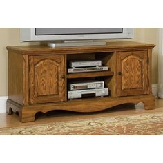 """Home Styles 5538-12 - 56"""" Wide Country Casual Entertainment TV Stand (Oak) 