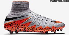 The new grey Nike Hypervenom Phantom II Football Boots introduce a striking design for the next-generation Nike Hypervenom 2 Cleat.