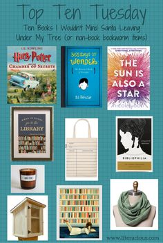 """Harry Potter and the Chamber of Secrets (Illustrated Edition)by J.K. Rowling 365 Days of Wonder: Mr. Browne's Book of Precepts by R.J. Palacio The Sun Is Also a Star by Nicola Yoon """"Wh…"""