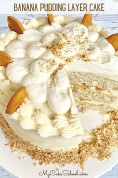 Homemade Banana Pudding, Banana Pudding Recipes, Banana Pudding Cupcakes, Pudding Ideas, Banana Cakes, Carrot Cakes, Baking Recipes, Cookie Recipes, Dessert Recipes