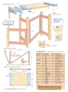 Folding Wood Carving Bench Plans - Wood Carving Patterns and Techniques - Woodwork, Woodworking, Woodworking Plans, Woodworking Projects Woodworking Bench Plans, Woodworking Workshop, Wood Plans, Woodworking Furniture, Woodworking Shop, Woodworking Projects, Woodworking Apron, Woodworking Chisels, Woodworking Patterns
