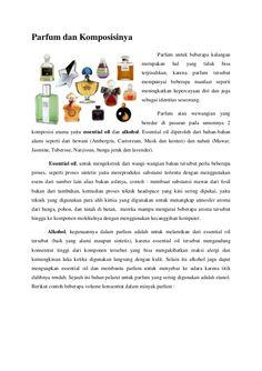 Parfum, Alkohol dan komposisinya