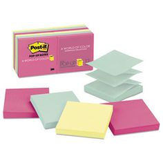 Original Pop-Up Refill, 3 X 3, Marseille, 100/pad, 12 Pads/pack