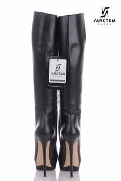 Sanctum Italian platform knee boots with thin heels