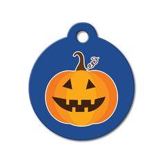 Halloween Pumpkin - Halloween Pet Tag #holidays #dogtagsfordogs #pettags #dogaccessories #dogfashion #dogs #pets #etsy #etsyfinds #pumpkin #halloween