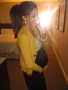 This girl has the cutest maternity outfits!