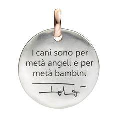 Ciondolo MONETA in argento e oro rosa 9k Silver and 9k rose gold COIN