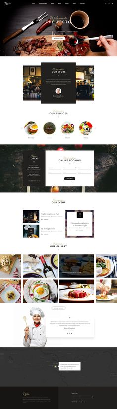 Beautiful Restaurant website design                                                                                                                                                                                 More