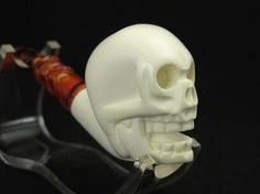 Skull Meerschaum Pipe New Tobacco Smoking Pipes