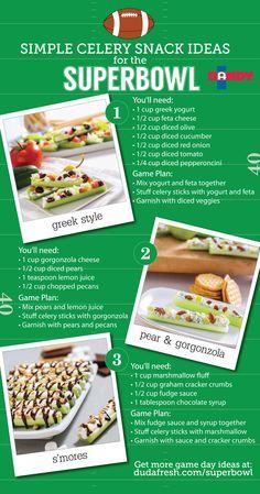 Super bowl snacks & celery snacks