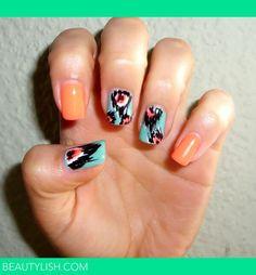 Beautylish.com chevron nails