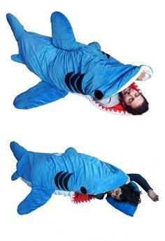 Shark sleeping bag, chels needs this for shark week